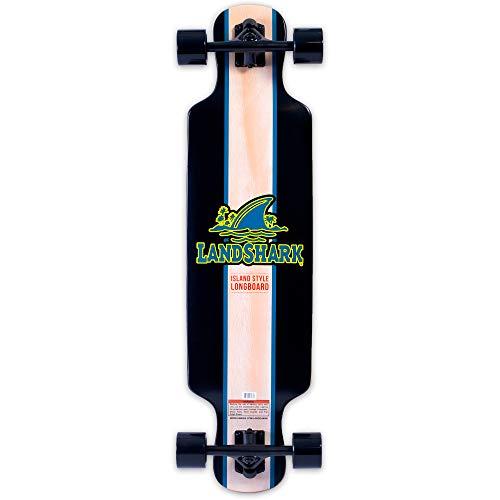 Landshark Island Style Longboard Skateboard Black One Size