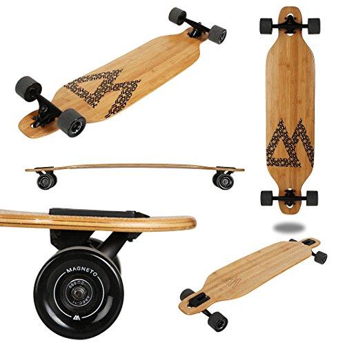 Magneto Longboard - Bamboo Drop Through Carving Longboard Skateboard