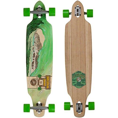 Sector 9 Green Wave Lookout II Drop-Thru Bamboo Complete Downhill Longboard Skateboard - 96 x 42