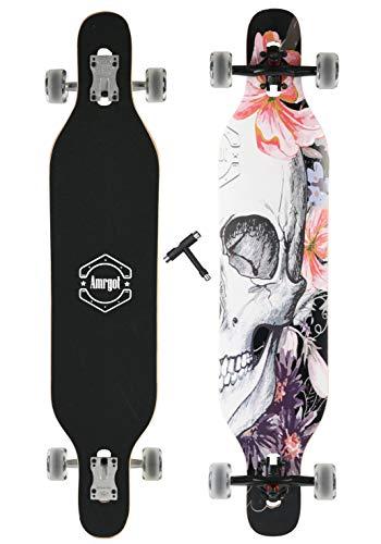 WiiSHAM Xtreme Free Professional Speed Downhill Drop Down Complete Longboard Skateboard Blue