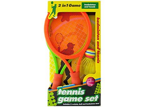 Bulk Buys OD871-3 2 In 1 Badminton and Tennis Game Set