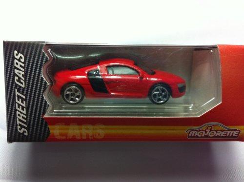 Majorette Audi R8 Red Black Sports Toy Car Rare Model