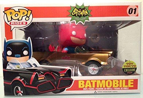 2014 SDCC Funko Pop Toy Tokyo Gold Batman Batmobile Limited Edition