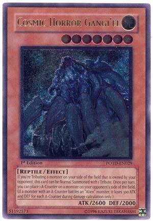 Yu-Gi-Oh - Cosmic Horror Gangiel POTD-EN029 - Power of the Duelist - 1st Edition - Ultimate Rare