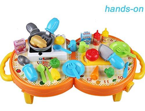 Nukied Kitchen Cooking Playset Pretend Play Food Toys Set
