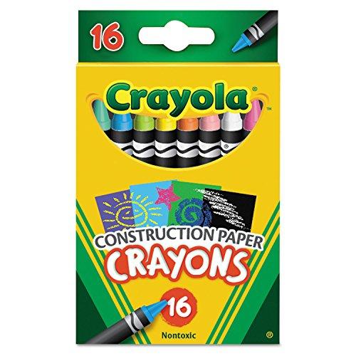 Construction Paper Crayons Wax 16Pk