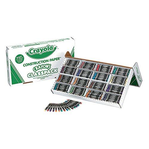 Crayola Classpack Regular Size Construction Paper Crayons