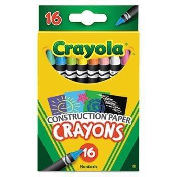 Crayola Construction Paper Crayons Wax 16Pk