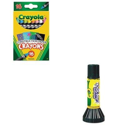 KITCYO525817CYO561135 - Value Kit - Crayola Construction Paper Crayons CYO525817 and Crayola Washable Glue Stick CYO561135