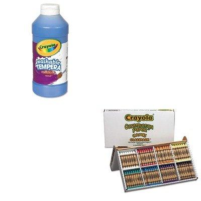 KITCYO528059CYO543115042 - Value Kit - Crayola Construction Paper Crayons CYO528059 and Crayola Artista II Washable Tempera Paint CYO543115042
