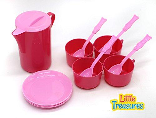 Little Treasures Kid Play Dishes Pretend Play Kitchen Tea Playset