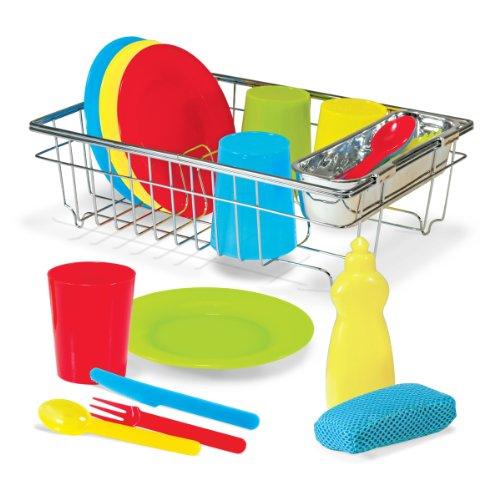 Melissa Doug 14282 Lets Play House Wash And Dry Dish Set