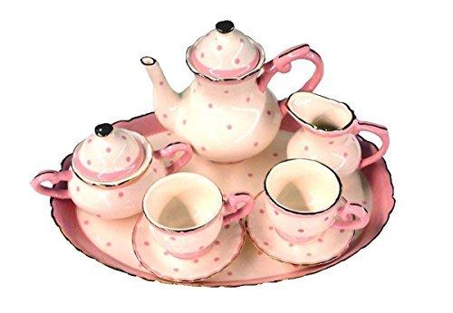 Childrens 10 Piece Mini Tea Party Set for 2 Zoe Dots