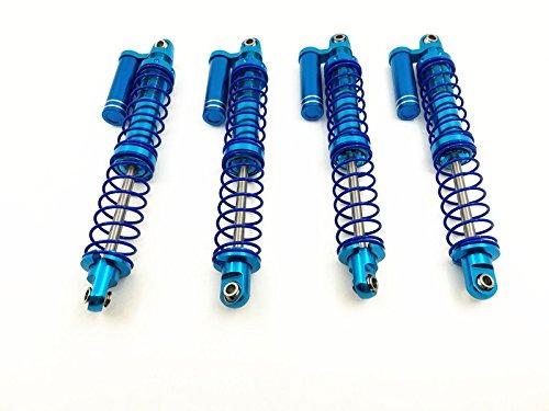 4PCS Blue 110mm Aluminum Piggyback Shocks Absorber Springs Shocks for D90 SCX10 110 RC Rock Crawlers Car