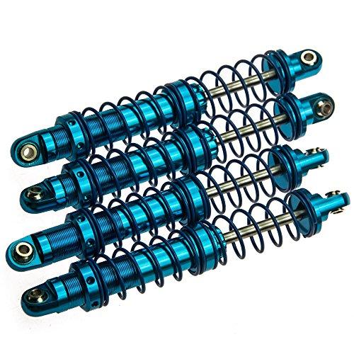 RC-FAST 4PCS Blue 90mm Aluminum Shocks Absorber Springs Shocks for D90 SCX10 110 RC Rock Crawlers Car
