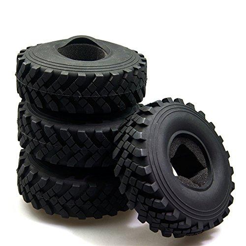 RC-FAST 4pcs 22 Tires Tyres W Foam for 22inch Rims Beadlock Wheel RC Rock Crawler Car