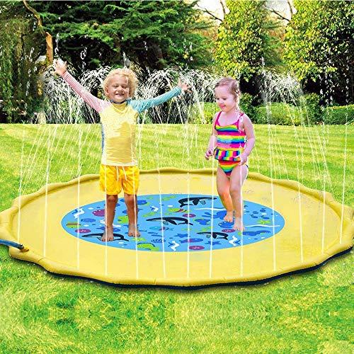 POKONBOY 68 Sprinkler for Kids Splash Pad Splash Play Mat Water Toys for Kids Outdoor Kids Sprinklers for Outside Water Play Sprinkler Inflatable Sprinkler and Splash Play Mat Toy for Infants Tod