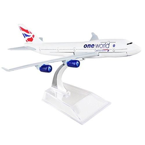 Brithsh Boeing 747 16cm Metal Airplane Models Child Birthday Gift Plane Models Home Decoration
