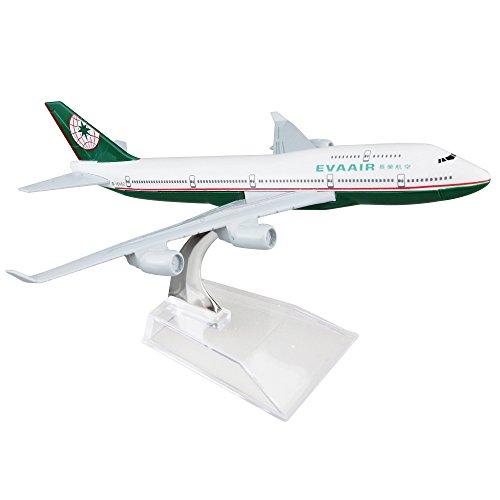 EVA Boeing 747 16cm Metal Airplane Models Child Birthday Gift Plane Models Home Decoration