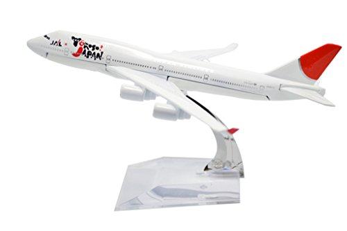 TANG DYNASTYTM 1400 16cm Boeing 747-400 Japan Airline Metal Airplane Model Plane Toy Plane Model