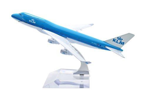 TANG DYNASTYTM 1400 16cm Boeing B747-400 KLM Metal Airplane Model Plane Toy Plane Model