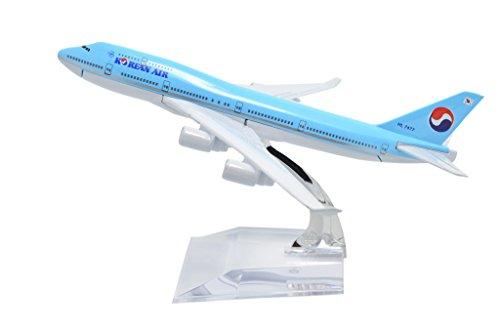 TANG DYNASTYTM 1400 16cm Boeing B747-400 Korean Air Metal Airplane Model Plane Toy Plane Model