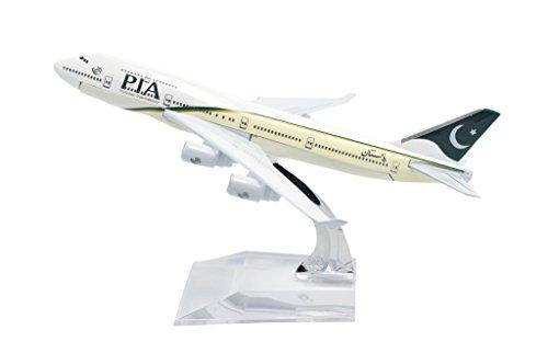 TANG DYNASTYTM 1400 16cm Boeing B747-400 PIA Metal Airplane Model Plane Toy Plane Model