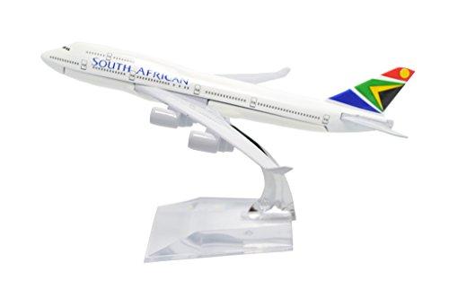 TANG DYNASTYTM 1400 16cm Boeing B747-400 South African Airways Metal Airplane Model Plane Toy Plane Model