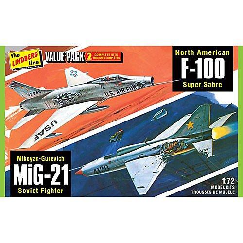 172 F-100  MiG-21 Two Pack Jet Kit