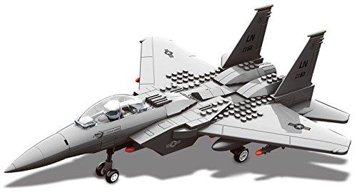 Top Race Interlocking Building F15 Fighter Jet Airplane Model Toy Kit Blocks Set