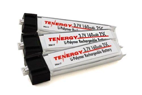 Combo 3pcs Tenergy 37V 160mAh 25C LIPO Battery for Micro Helicopter e-Flite MSR X Parkzone Vapor Cessna  Micro Citabria