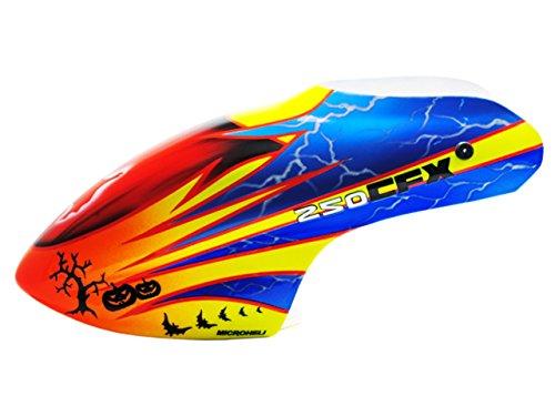Microheli Airbrush Fiberglass Lightning Devil Canopy - BLADE 250 CFX