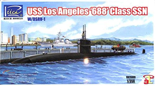 Riich 1350 USS Los Angeles 688 Class SSN w DSRV-1 Submarine Kit RN28008