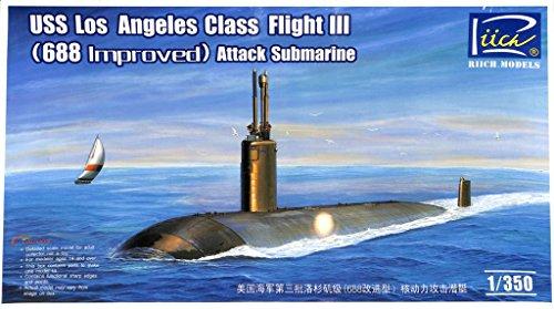 Riich 1350 USS Los Angeles Class Flight III 688 Improved Submarine Kit RN28007