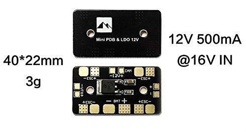 UsmileSuper Mini Power Distribution Board PDB 12V Linear Regulator step-down transformer for 3-6s lipo battery FPV Multirotor Quadcopter 2pcs