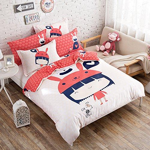 TheFit Paisley Bedding for Adult U171 Adventure Little Girls Duvet Cover Set 100 Cotton Queen Set 4 Pieces