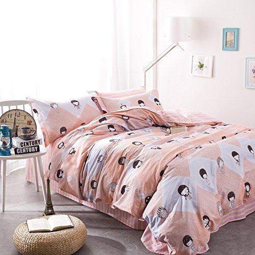 TheFit Paisley Bedding for Adult U23 Little Girls Duvet Cover Set 100 Cotton Queen Set 4 Pieces