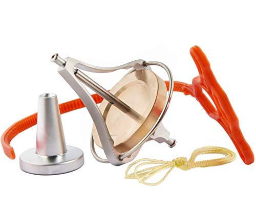 Joytech Precision Gyroscope Kill Time Metal Anti-Gravity Balance Toy Brass Wheel Silver Rim Spinning Top JA07