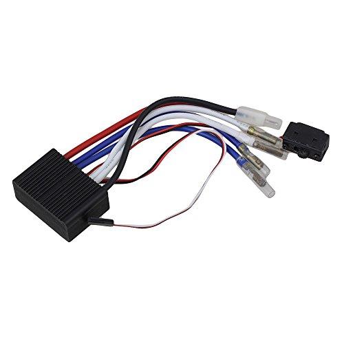 Mxfans 5V ~ 17V Black 150A RC Brushed ESC Motor Speed Controller for Climbing Model Car
