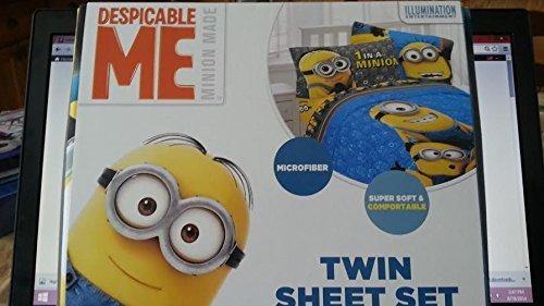 Despicable Me Twin Size Sheet Set  Minions
