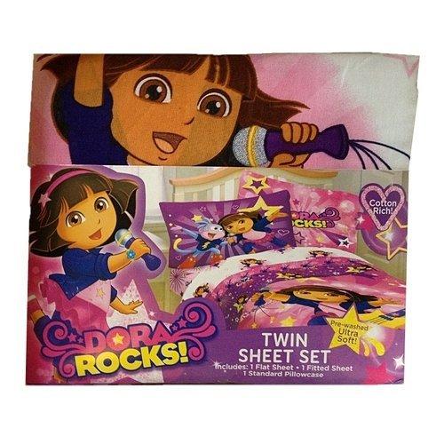 Dora Rocks Twin Size Sheet Set