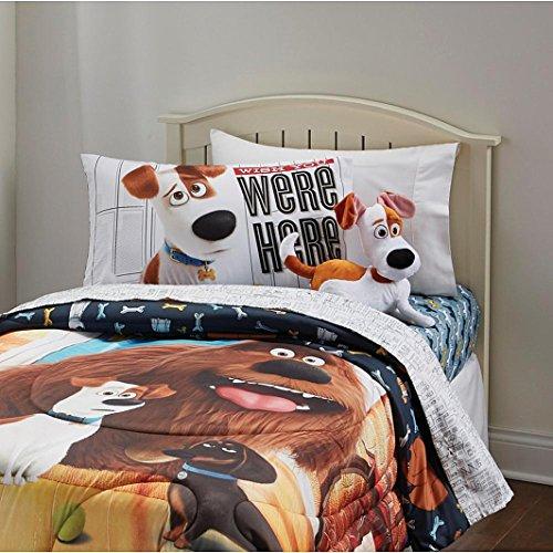 Secret Life of Pets Kids Sheet Set 3 Piece Bedroom Bedding Sheet Set Twin Size