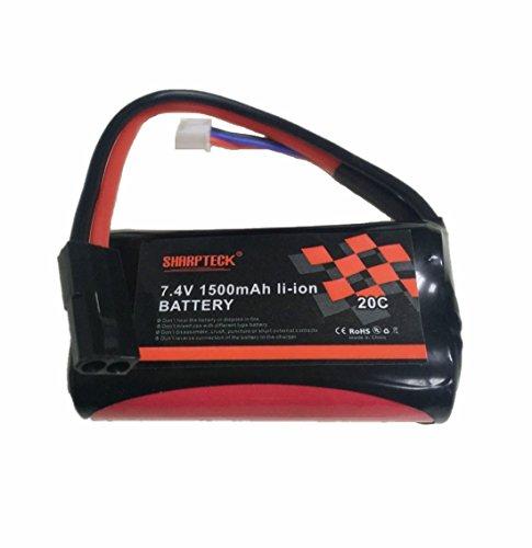 SHARPTECK 112 RC Car Battery 74V 1500 mAh Li-ion Rechargeable Battery for High Speed Race Car BG150715081509BG1513C5031C5032 C5011C5021