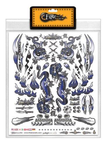 FireBrand RC • Decal Sheet Blue Dragon