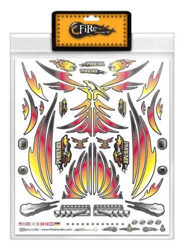FireBrand RC • Decal Sheet Orange Phoenix