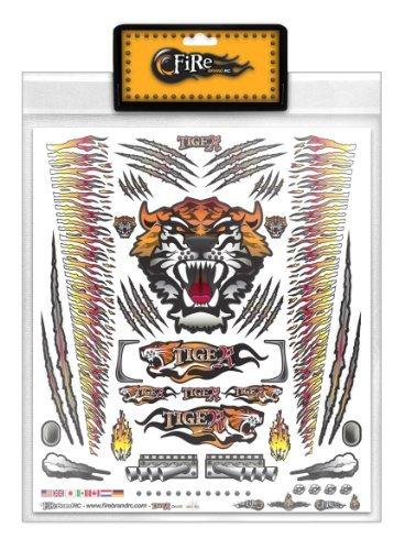 FireBrand RC • Decal Sheet Orange Tiger