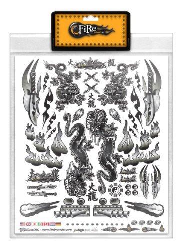 FireBrand RC Decal Sheet Black Dragon