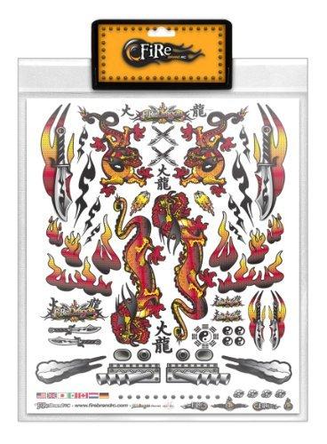 FireBrand RC Decal Sheet Orange Dragon
