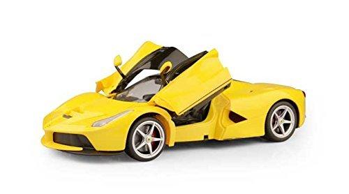 Officially Licensed Ferrari La Ferrari LaFerrari RC Car with Open Door Function Scale 114 Color Yellow