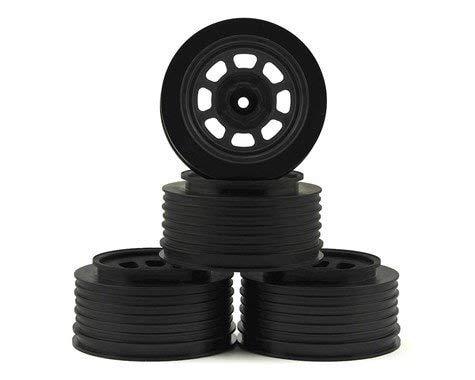 DE Racing Speedway SC Short Course Dirt Oval Wheels Black 4 19mm Backspace Slash Front w12mm Hex